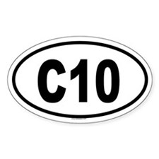 C10 Oval Decal