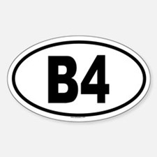 B4 Oval Decal