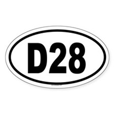 D28 Oval Decal