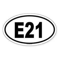 E21 Oval Decal