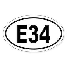 E34 Oval Decal