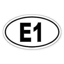 E1 Oval Decal