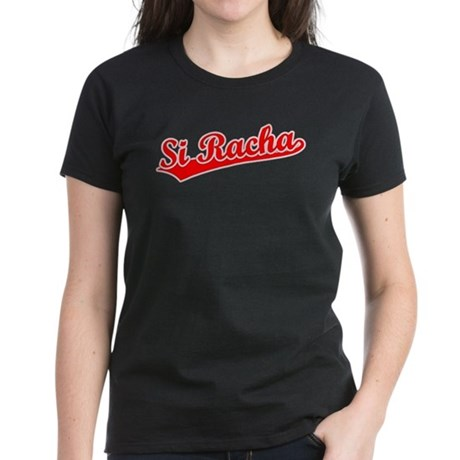 Retro Si Racha (Red) Women's Dark T-Shirt