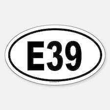 E39 Oval Decal