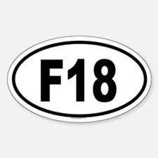 F18 Oval Decal