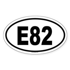 E82 Oval Decal
