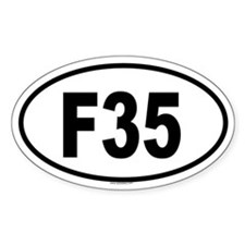 F35 Oval Decal