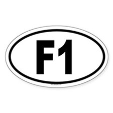 F1 Oval Decal