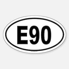 E90 Oval Decal