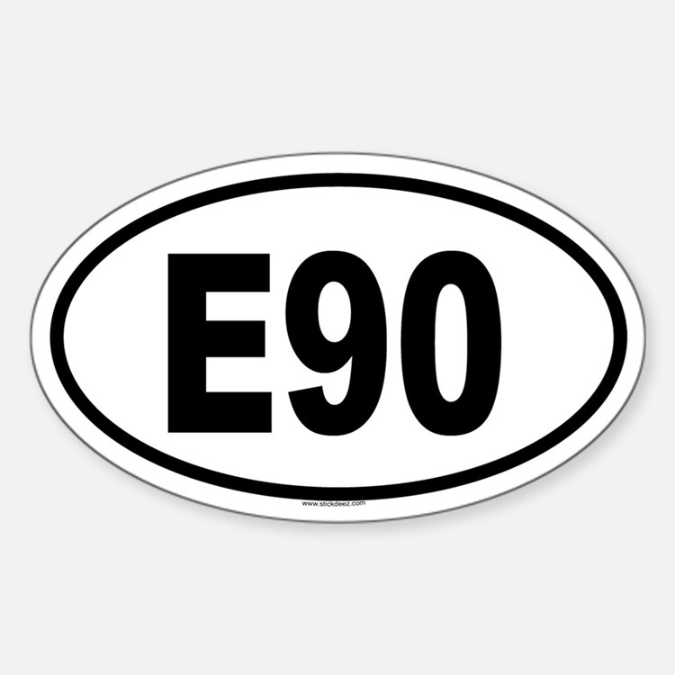 E90 Oval Decal
