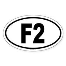 F2 Oval Decal