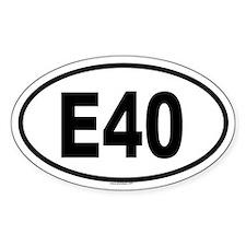 E40 Oval Decal