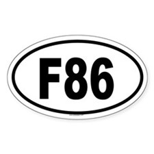 F86 Oval Decal