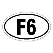F6 Oval Decal