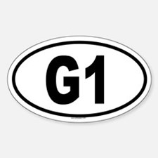 G1 Oval Decal