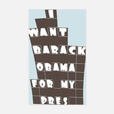 Barack Obama for Pres Rectangle Decal