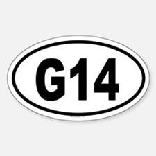 G14 Oval Decal