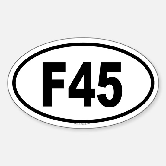 F45 Oval Decal