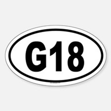 G18 Oval Decal