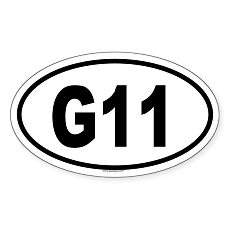 G11 Oval Sticker