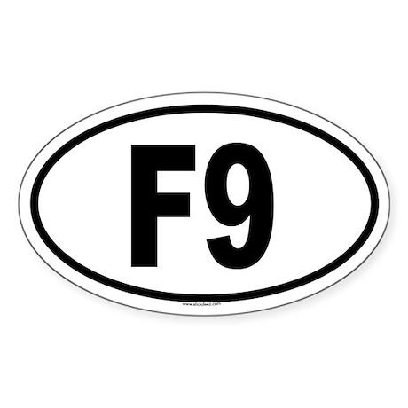 F9 Oval Sticker