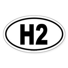H2 Oval Decal