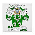 Gutierrez Family Crest Tile Coaster