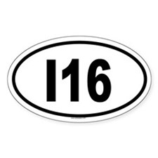 I16 Oval Decal