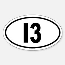 I3 Oval Decal