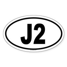 J2 Oval Decal