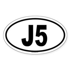 J5 Oval Decal