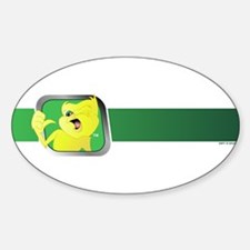 Green Division Design Oval Decal