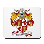 Henriquez Family Crest Mousepad