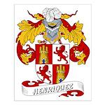 Henriquez Family Crest Small Poster