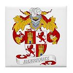 Henriquez Family Crest Tile Coaster