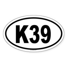 K39 Oval Decal
