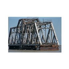 Railroad Swing Bridge Rectangle Magnet