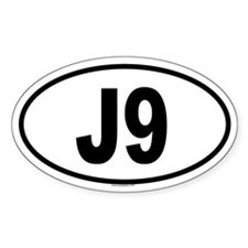 J9 Oval Decal