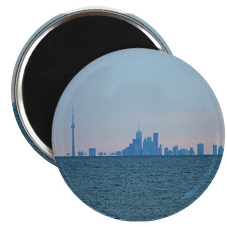 "Toronto Skyline At Sunset 2.25"" Magnet (100 pack)"