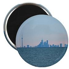 Toronto Skyline At Sunset Magnet
