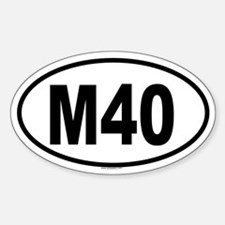 M40 Oval Decal