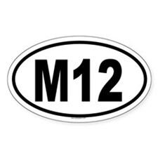 M12 Oval Decal