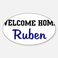 Welcome Home Ruben Oval Decal