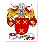 Hernandez Family Crest Small Poster