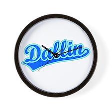 Retro Dallin (Blue) Wall Clock