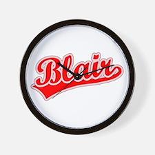 Retro Blair (Red) Wall Clock