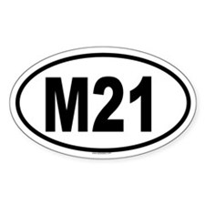 M21 Oval Decal
