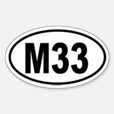 M33 Oval Decal