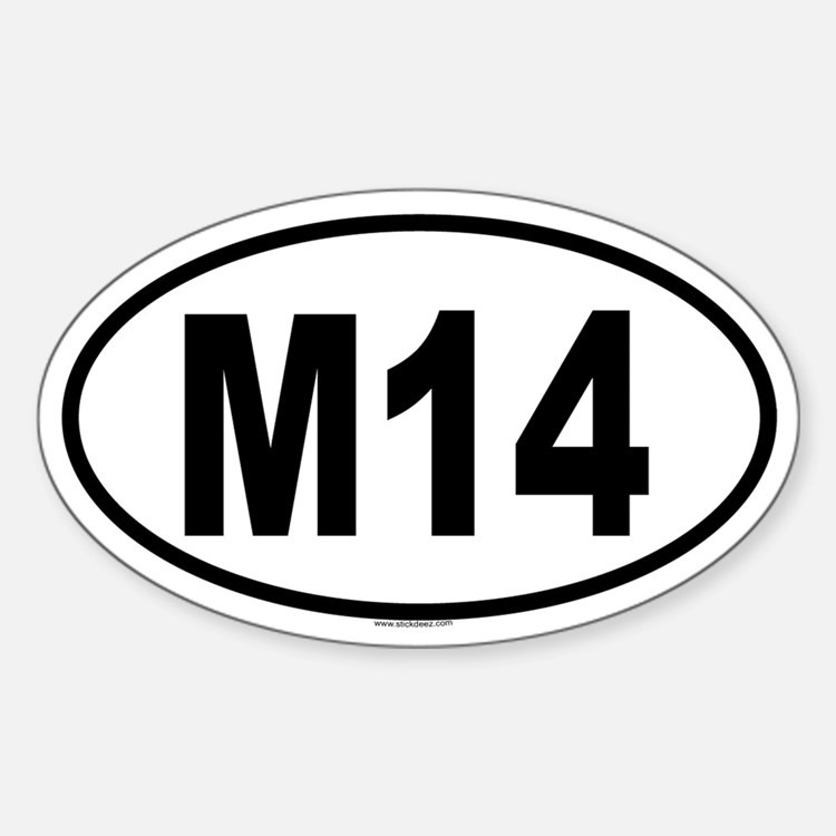M14 Oval Decal