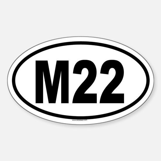 M22 Oval Decal